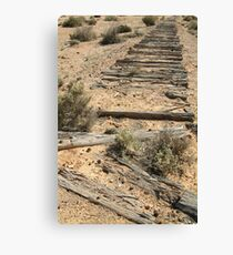 Joe Mortelliti Gallery - Ruins of a railway, Old Ghan Railway, South Australia. Canvas Print
