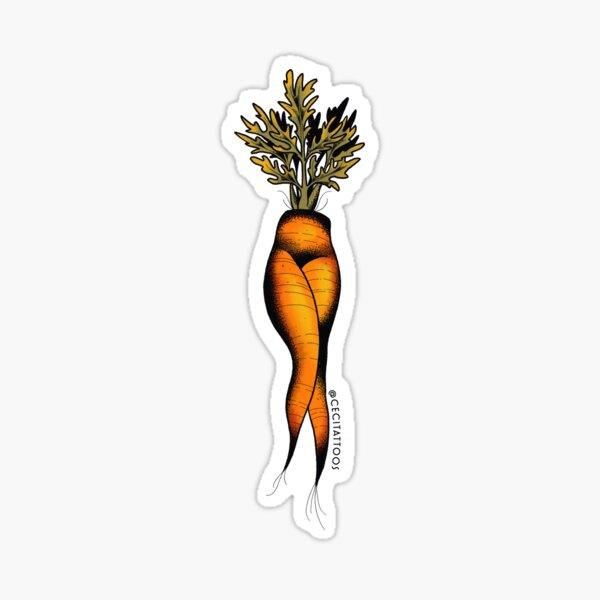 Sexy carrot tattoo flash sticker Sticker
