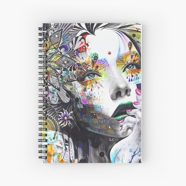 Banksy Urban Princess Graffiti Oil Painting Spiral Notebook