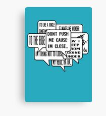 c290cf22e Grandmaster Flash - The Message Hip Hop lyrics Canvas Print
