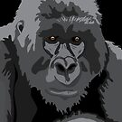Mountain Gorilla by shortsleeve