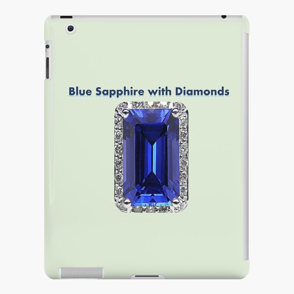 Blue Sapphire with Diamonds  iPad Case & Skin