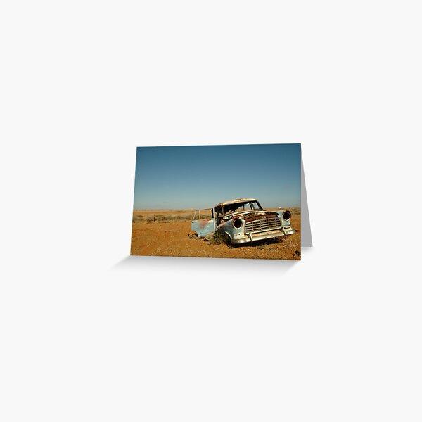 Joe Mortelliti Gallery - Wreck of an FC Holden, Marree, South Australia.  Greeting Card