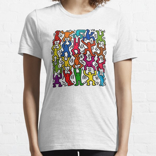 Keith Haring Stick Figure Acrobats Essential T-Shirt