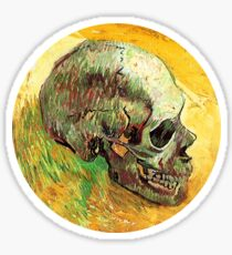 Vincent van Gogh - Skull Sticker