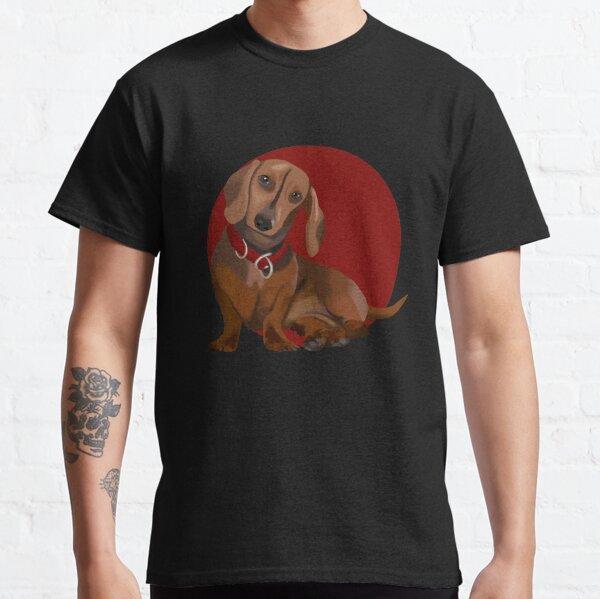Fun Dauchund dog sitting Classic T-Shirt