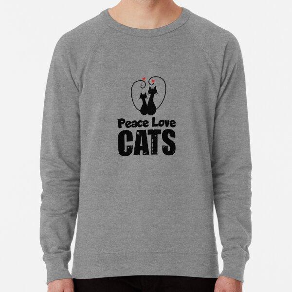Peace Love Cats Lightweight Sweatshirt