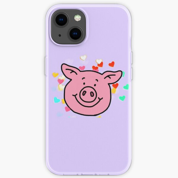 Love Heart Percy Pig iPhone Soft Case
