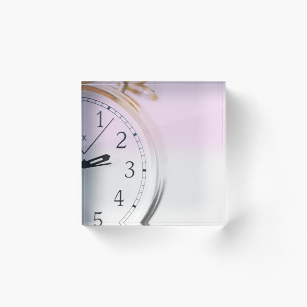 Time Acrylic Block