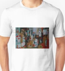 Orange and Blue Painting Diptych Unisex T-Shirt