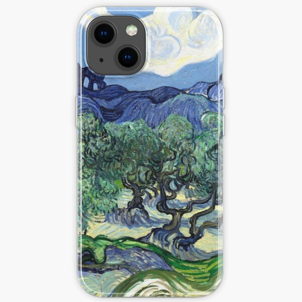 Vincent van Gogh - Olive Trees with the Alpilles in the Background iPhone Soft Case