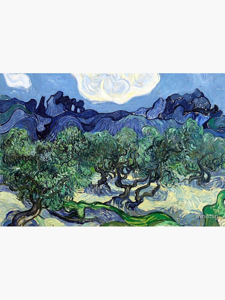 Vincent van Gogh - Olivenbäume mit den Alpilles im Hintergrund von irinatsy