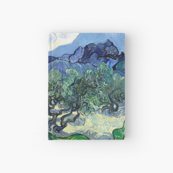 Vincent van Gogh - Olive Trees with the Alpilles in the Background Hardcover Journal