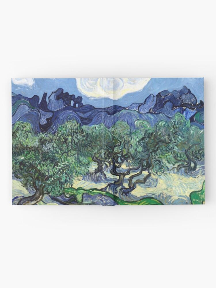 Alternative Ansicht von Vincent van Gogh - Olivenbäume mit den Alpilles im Hintergrund Notizbuch