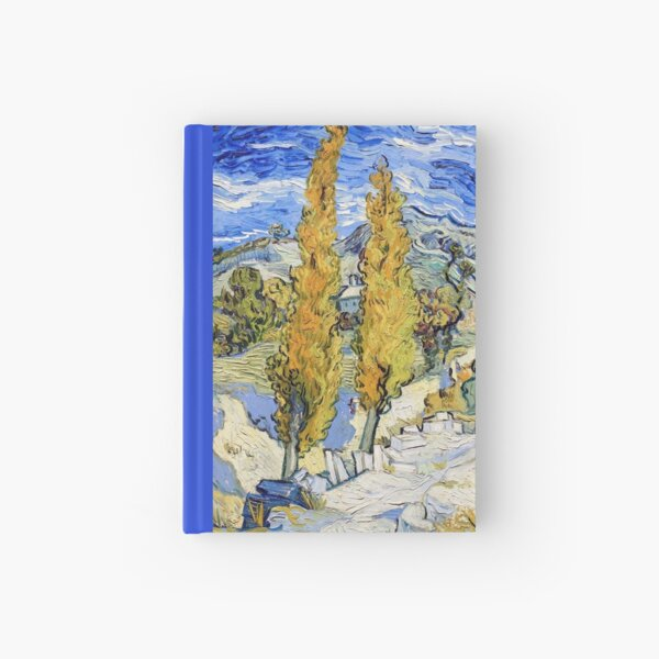 Vincent van Gogh - Two Poplars on a Hill Hardcover Journal