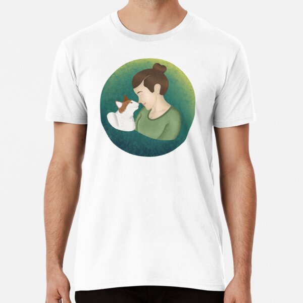Just a Girl & Her Cat Premium T-Shirt
