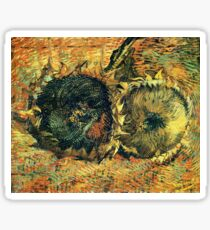Vincent van Gogh - Still Life with Two Cutted Sunflowers Sticker
