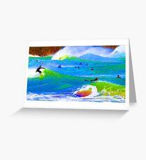 80'S Surf Style -  Beach Break Blues Greeting Card