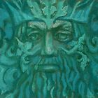 Green Man / Forest King, fantasy art, celtic folklore by clipsocallipso