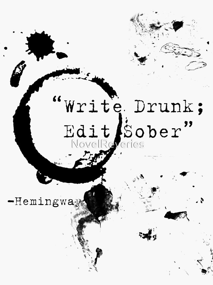 Cita del escritor de Hemingway de NovelReveries
