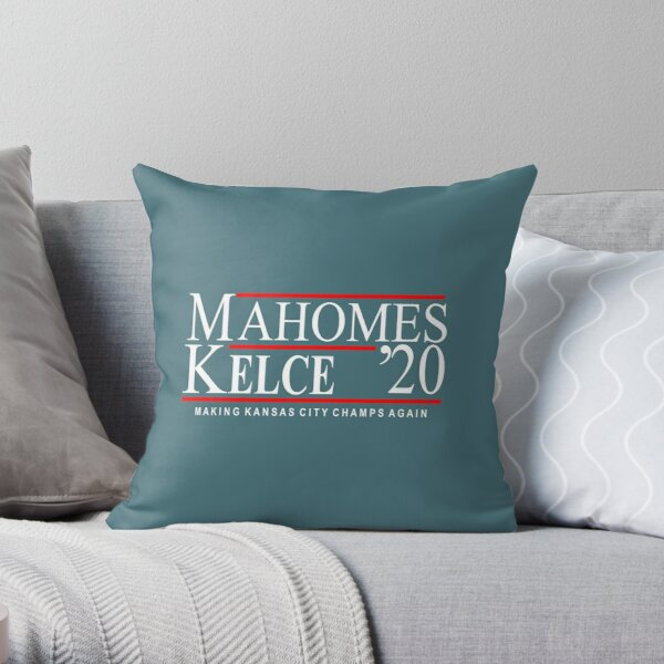 Patrick Mahomes and Travis Kelce for President - 2020 election - Kansas City Throw Pillow
