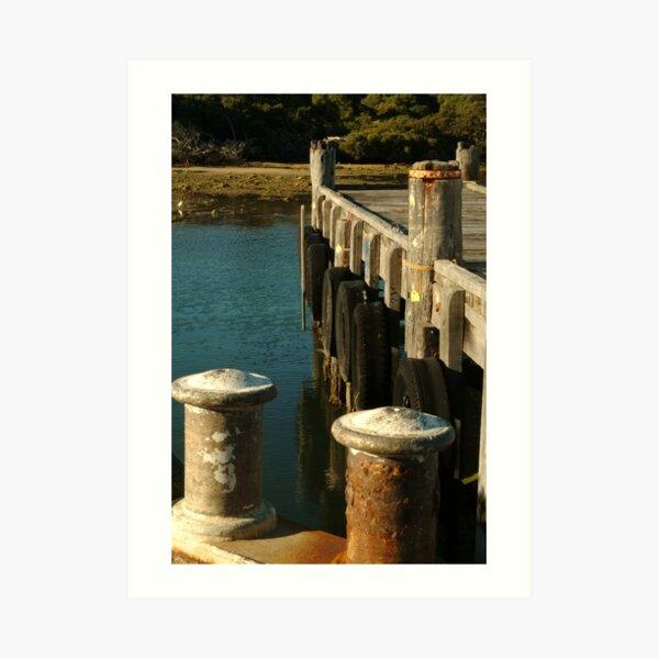 Joe Mortelliti Gallery - Jetty at Robe, South Australia. Art Print