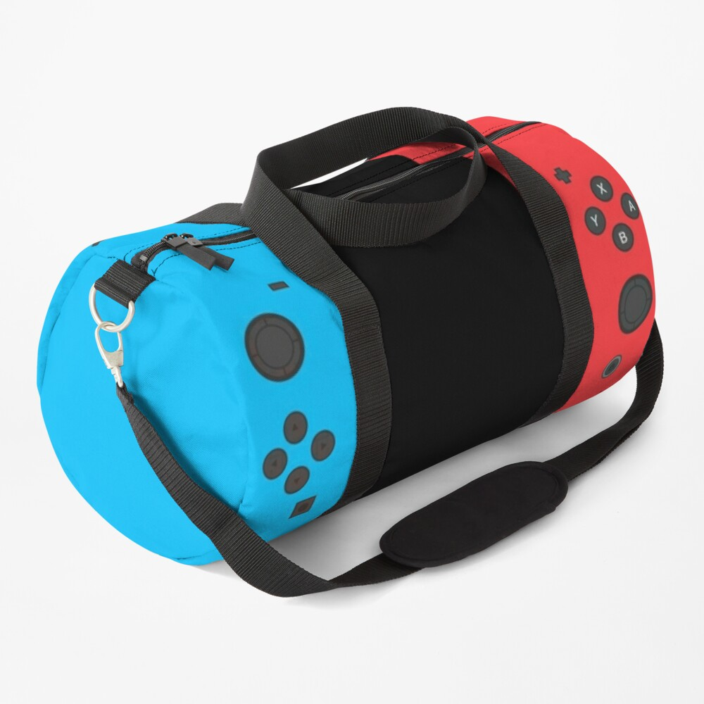 Nintendo Switch Blue Red Gamer Design Duffle Bag