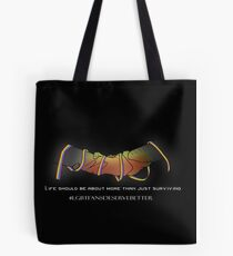 Rainbow Ribbon Clasp (Dark) Tote Bag