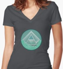 Skyview Mint Women's Fitted V-Neck T-Shirt