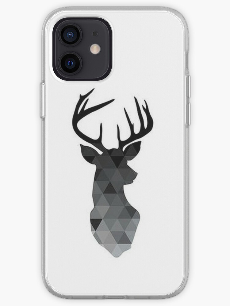 Tête de cerf géométrique noire | Coque iPhone