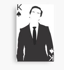 Minimalist Jim Moriarty - King of Spades Canvas Print