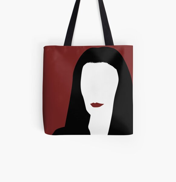 Morticia Addams from The Addams Family All Over Print Tote Bag