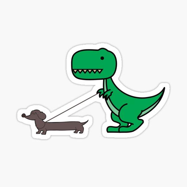 Dachshund Dinosaur Lover Sticker