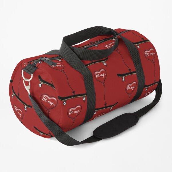 Be My Valentine Skater - Love Skateboarding and Skaters Heart Balloon Duffle Bag