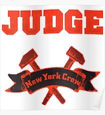 Judge - New York Crew Poster