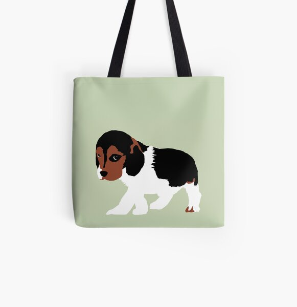 Puppy All Over Print Tote Bag