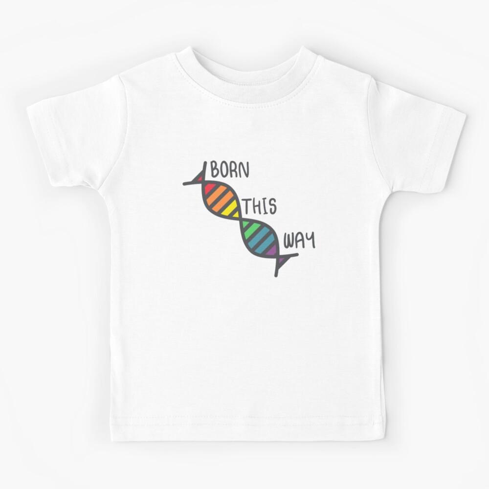Auf diese Weise geboren - Lgbtqia Lgbt T-Shirt Kinder T-Shirt