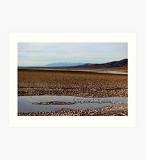 Badwater Basin 2016 Art Print
