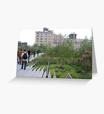 High Line View, New York's Elevated Garden and Walking Path Greeting Card
