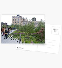 High Line View, New York's Elevated Garden and Walking Path Postcards