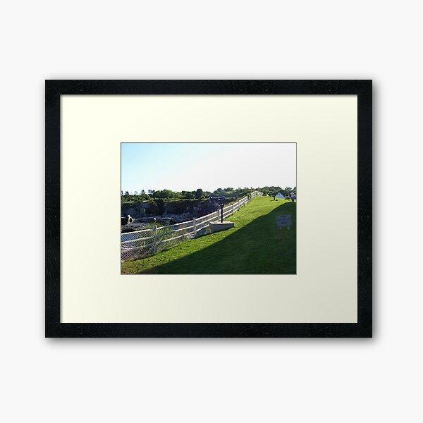 Keep Off The Grass Framed Art Print