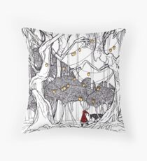 little red and little wolf Throw Pillow