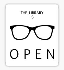 The Library is Open Sticker
