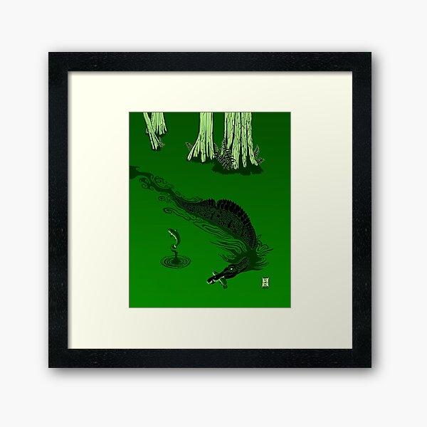 Swamp Dragon Framed Art Print
