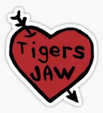 Tigers Jaw Heart Decal Sticker