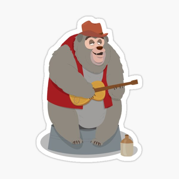 Big Al, The Country Bear Sticker