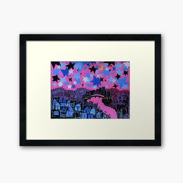 winter stars Framed Art Print
