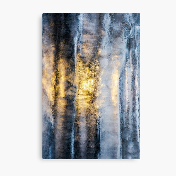 beautiful ice texture lit from behind Metal Print