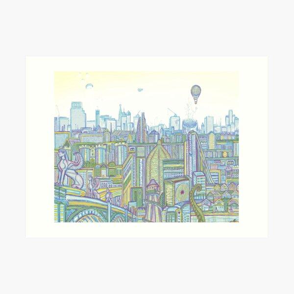 Megatropolis, Riddle District Art Print