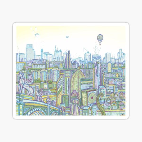 Megatropolis, Riddle District Sticker